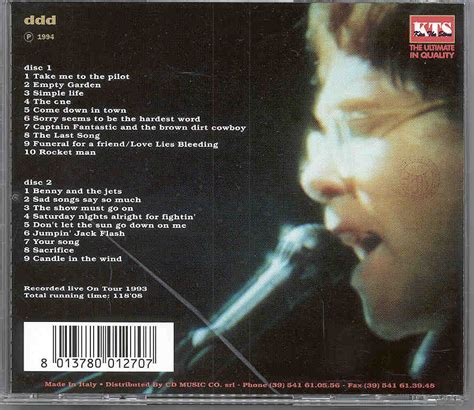 Cd Hed Kandi From Barcelona With 2cd Imported elton 2 cd world class