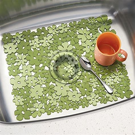 green kitchen sink mats interdesign blumz kitchen sink protector mat large