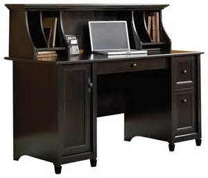Sauder Computer Desk Estate Black Sauder Edge Water Computer Desk And Hutch Set In Estate