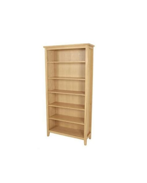 oregon solid oak high bookcase