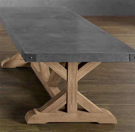 restoration hardware concrete table restoration hardware concrete rectangular dining table