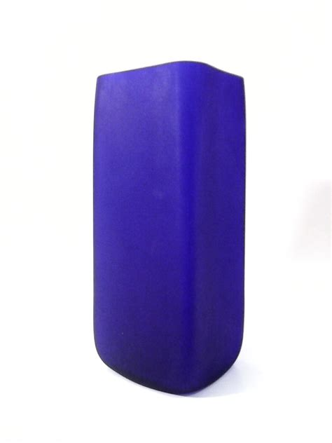 Blue Square Vase by The Vase Square Cobalt Blue Blown Glass Vase