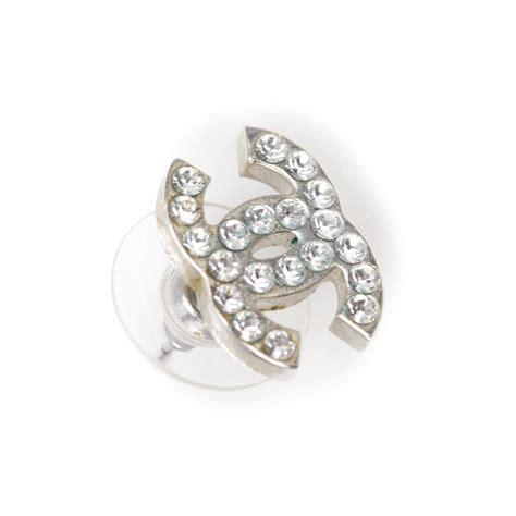 chanel cc logo earrings 26686