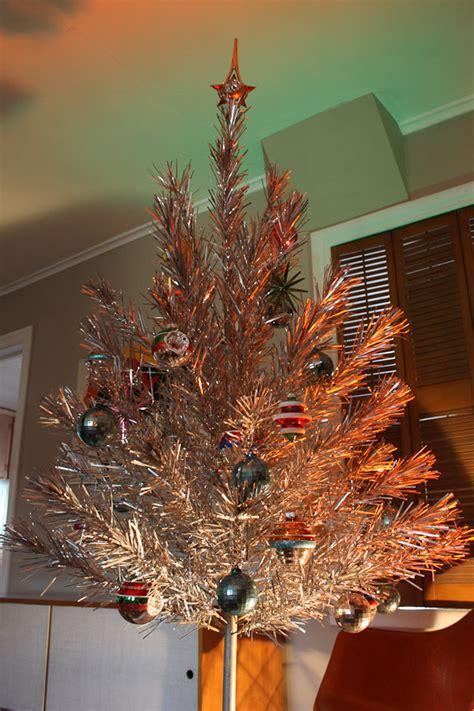 vintage aluminum christmas tree mid century modern