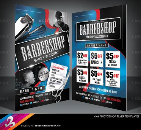 barbershop flyer templates by anotherbcreation on deviantart