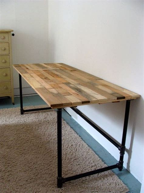 wood and pipe desk salvaged wood and pipe desk by riotousdesign on etsy 650