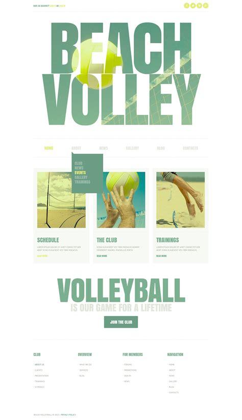 template joomla vintage vintage volleyball joomla template 44415