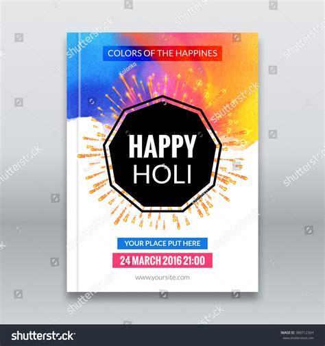 festival brochure template holi festival poster template flyer brochure stock vector