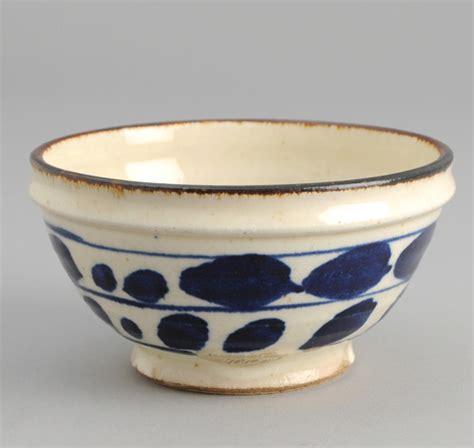 Mangkok Keramik Cereal Bowl Motif ce1 03 endo pottery cereal bowl blue abstract leaves motif japanese pottery