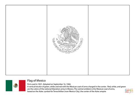 Mexican Flag Color Page mexico flag coloring page free printable coloring pages