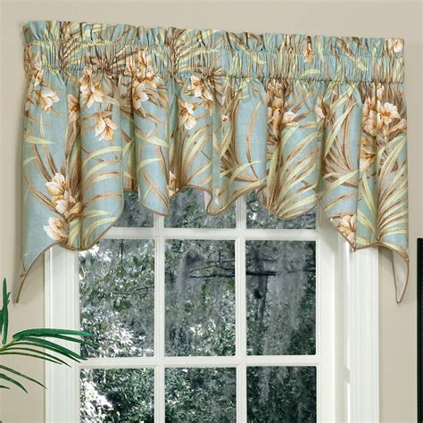 window curtains with valance martinique tropical gigi swag valance pair