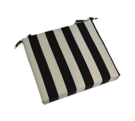 black and white bench cushion indoor outdoor black and white stripe universal 2 quot thick