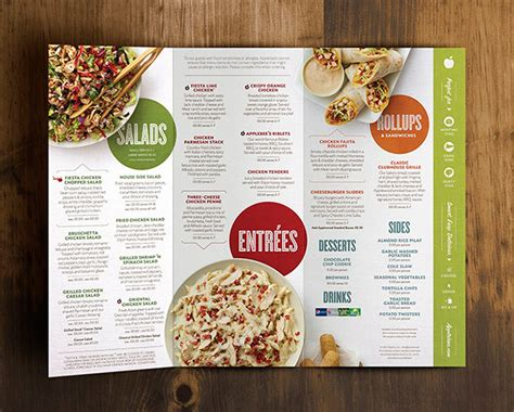 layout for catering menu art of the menu applebee s anywhere