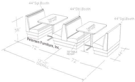 restaurant booth design guidelines upholstered restaurant booth layouts and typical booth