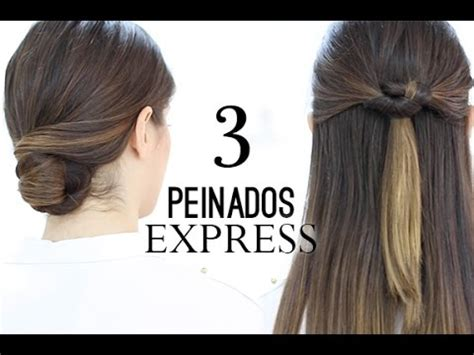 Peinados F 193 Ciles Y R 193 Pidos Quot Express Quot Youtube