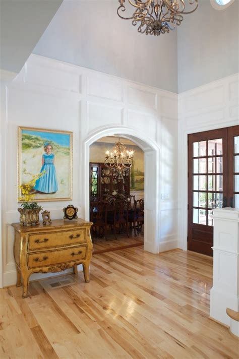 foyer wainscoting design ideas wainscoting to normal ceiling height trimwork built ins