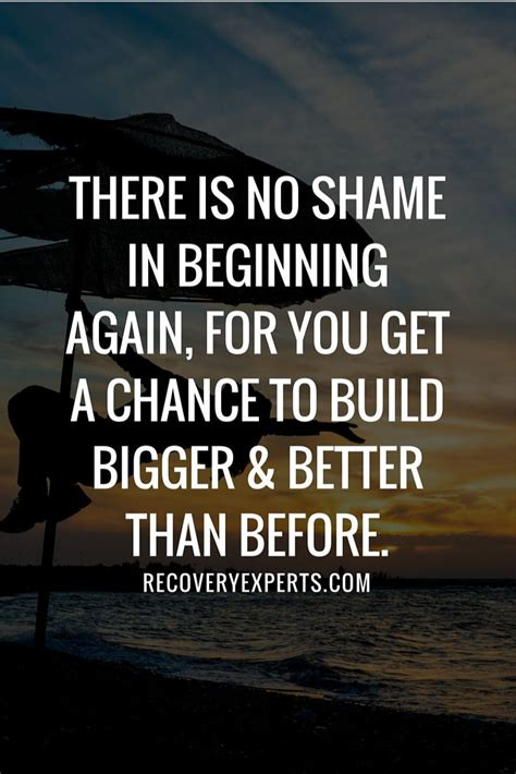 recovery quotes    shame  beginning