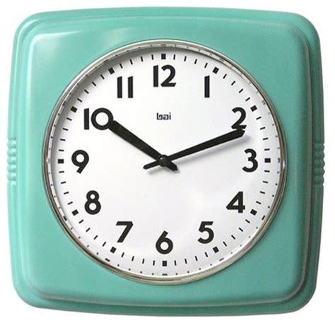retro modern wall clock cubist retro modern wall clock turquoise modern