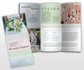wedding planner brochure template wedding event planner business brochure templates