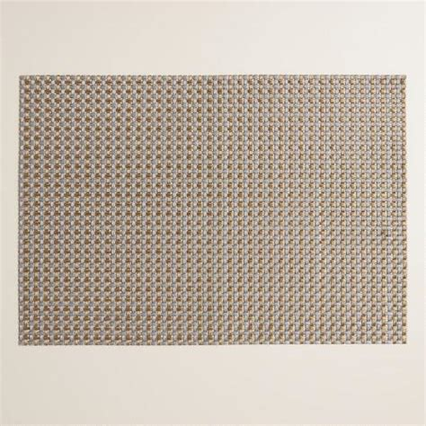 Get Cheap Woven Vinyl Placemats by Silver Twisted Metallic Woven Vinyl Placemats Set Of 4