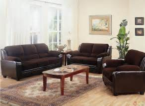 Brown Living Room Set Monika Two Toned Brown Corduroy Casual Living Room Sofa And Loveseat Set