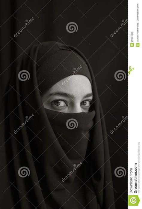 umbrella pattern burka woman in burka royalty free stock photo image 29137835
