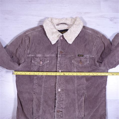 Fleece Lined Corduroy Jacket wrangler brown sherpa fleece lined cord corduroy jacket xl