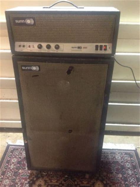 vintage fender speaker cabinets vintage sunn 200s 6550 5ar4 tube head 2x15 bass guitar