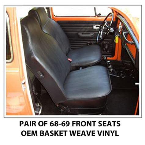 vw seat covers beetle volkswagen beetle front seat covers 1968 69 sedan or