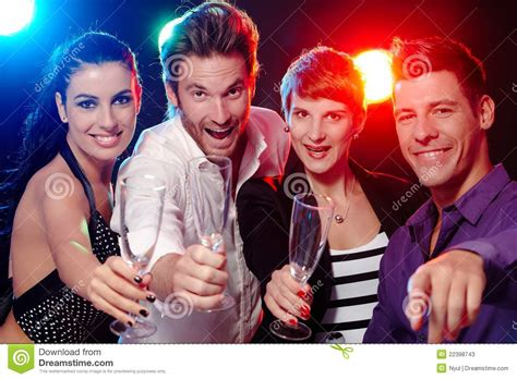 a for all time fan club in nightclub stock image image