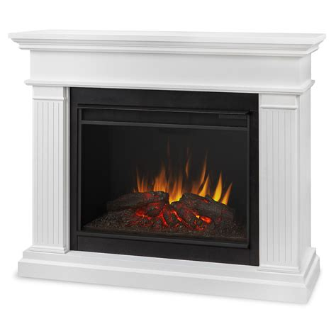 White Electric Fireplace Real Kennedy Grand Electric Fireplace In White