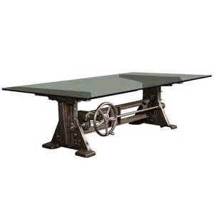 Tables conference vintage industrial cast iron adjustable table
