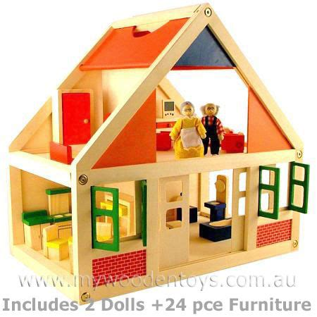 wooden dolls houses australia wooden doll house with furniture my wooden toys