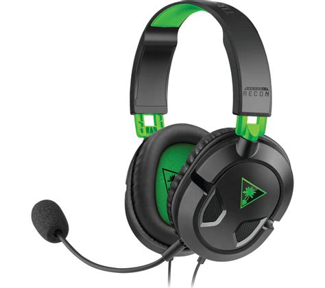 Headset Turtle turtle ear recon 50x 2 0 gaming headset black green deals pc world
