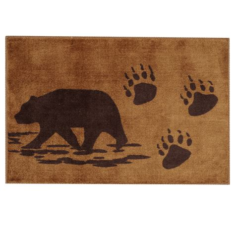 rugs with bears bath rug