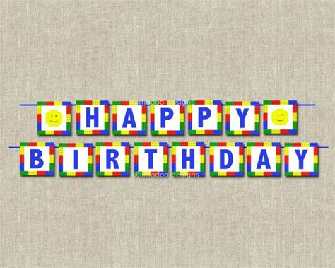 printable lego birthday banner 9 best images of lego banner printable happy birthday