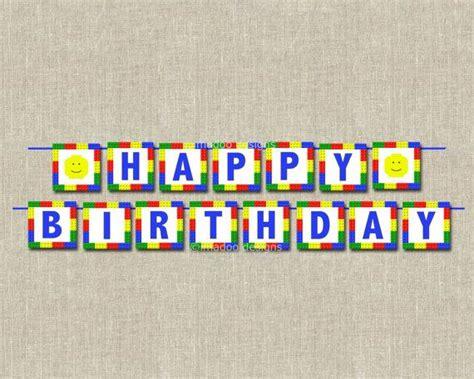 printable lego happy birthday banner 9 best images of lego banner printable happy birthday