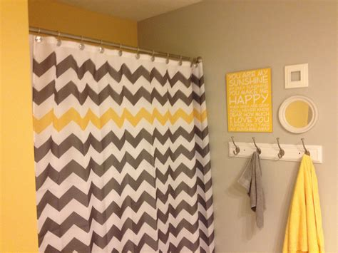 Grey White Yellow Bathroom by Yellow And Grey Quot You Are My Quot Chevron