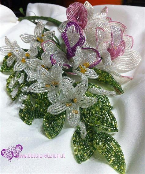 perline fiori fiori di perline bouquet sposa gioielli