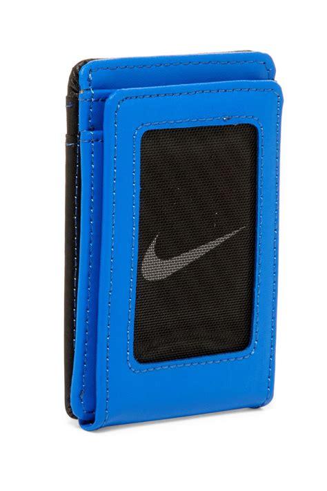 Paket Wallet lyst nike leather block front pocket wallet in blue for