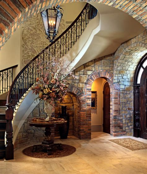 Lomonaco S Iron Concepts Home Decor Tuscan Curved Stairway Tuscan Home Interior Design