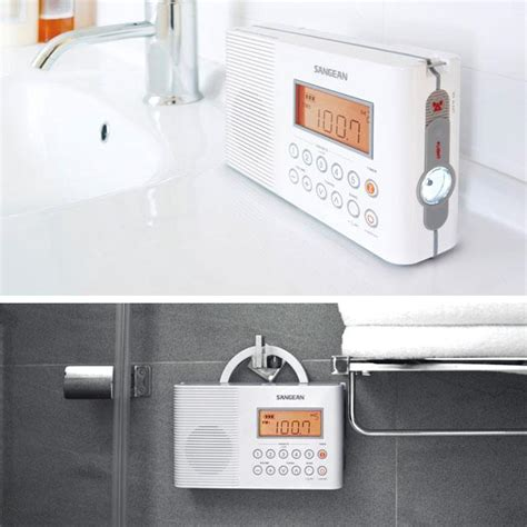 Radio For Shower Bathroom Sangean H201 Waterproof Shower Radio
