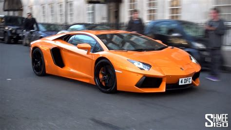 Lamborghini Aventador In Orange Lamborghini Aventador In Arancio Atlas Orange