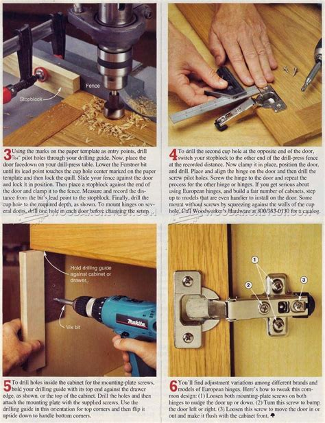 how to install hinges how to install concealed hinges