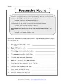 13 best images of plurals vs possessives worksheets