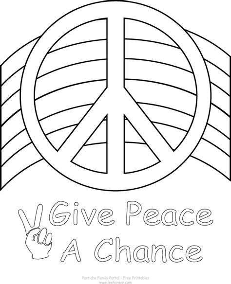peace colours peace coloring pages