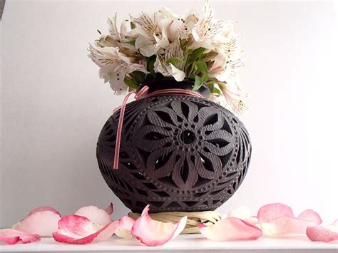 centros de mesa en barro negro perfectos  boda xv