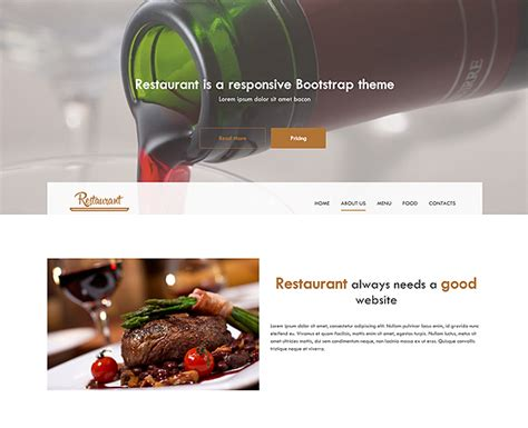 html themes restaurant free download 12 free html5 website templates free html5 themes gridgum