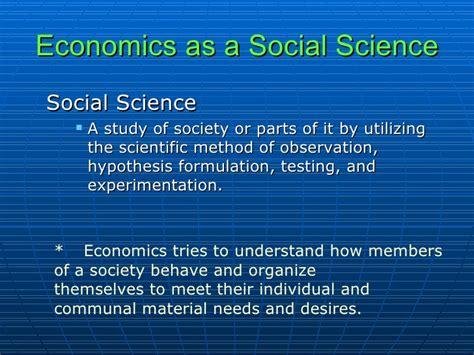 social science pr 3 what is economics