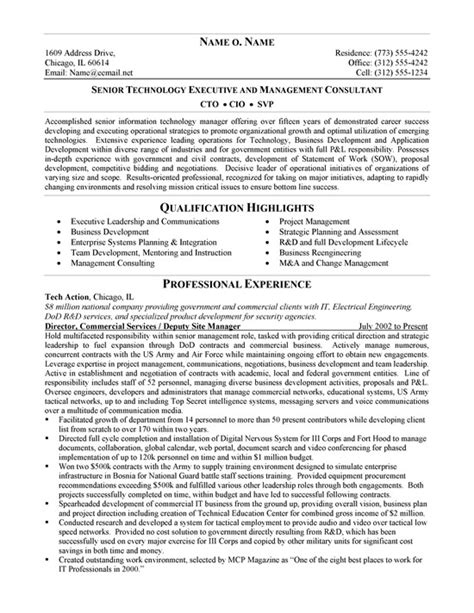 CTO Resume Example